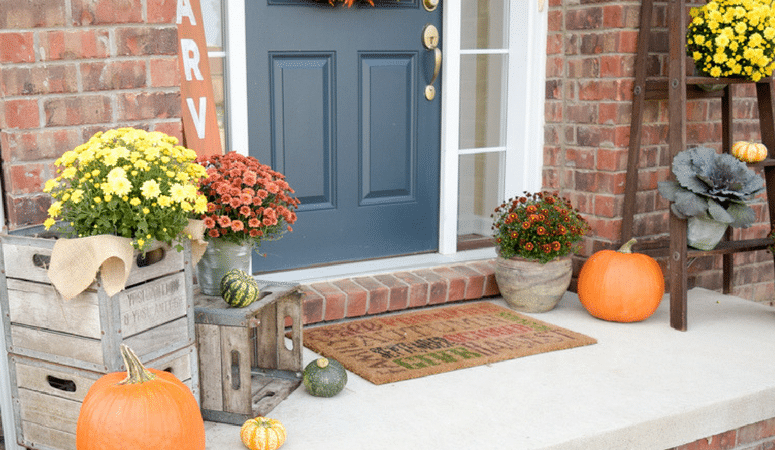 Our Rustic Fall Front Porch