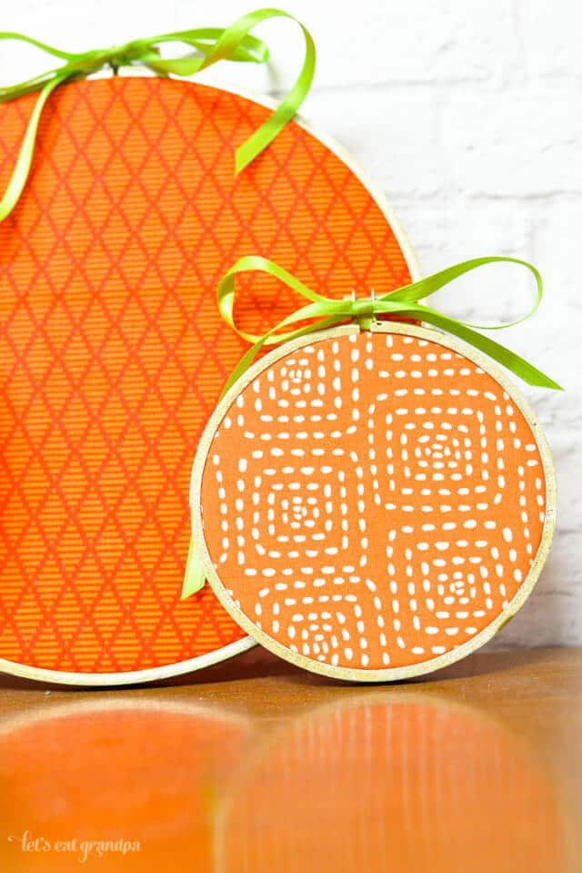 1-Hour Fall Craft Ideas: Get creative designing these pumpkin embroidery hoops