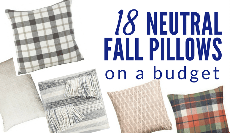Pick up these neutral fall pillows to use for several years! They are budget friendly and super adorable. Click to see all 18!
