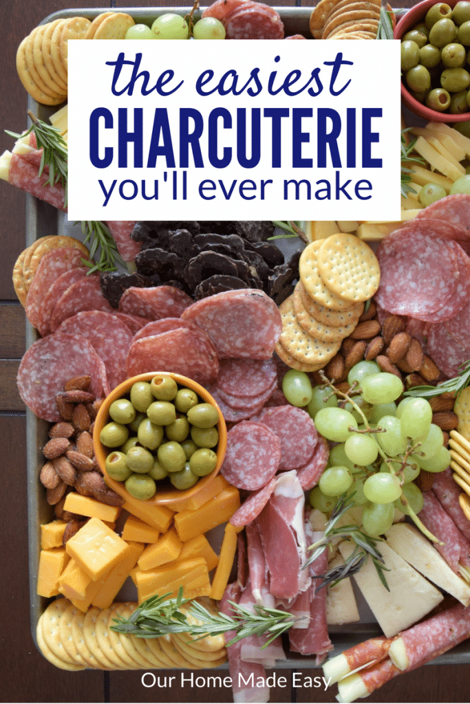This is the easiest charcuterie you'll ever make! It's perfect for no bake recipe that you can make in just a few minutes! Click to see the recipe! #ad