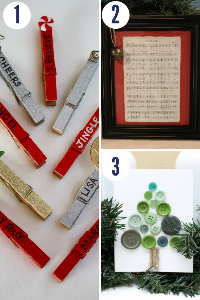 These fun Christmas crafts are so simple to make and add a perfect Christmas touch to your home
