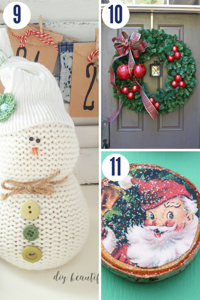 These adorable Christmas crafts are simple and only take 30 minutes to make!