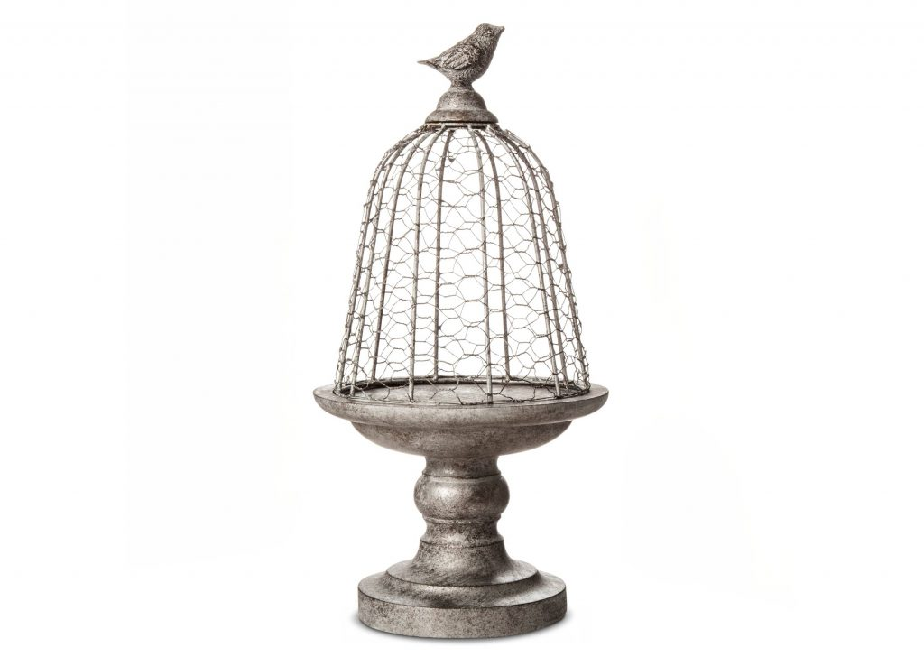 This bird cloche is a unique piece of farmhouse style decor that any rustic style friends would love