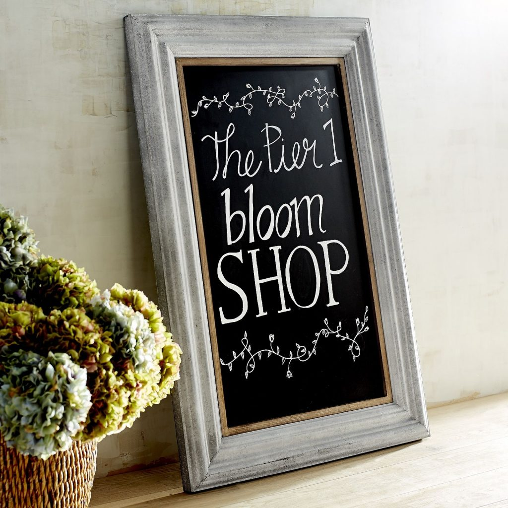 This framed chalkboard sign is the perfect farmhouse style gift for friends that love rustic style