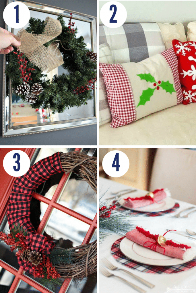 If you're looking for easy Christmas crafts to make, try these tutorials for Christmas wreaths, throw pillows, and Christmas dinner table settings
