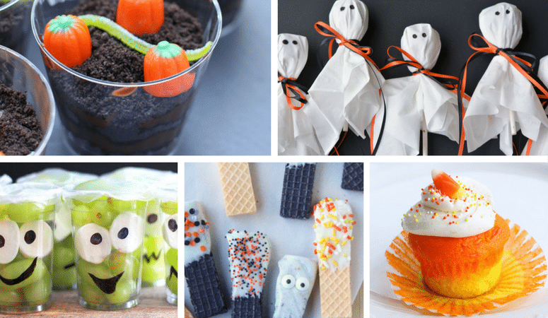 Here are the easiest school Halloween treats you can make today! No artistic or crafty skills needed. Simply a few steps and safe for peanut allergies.