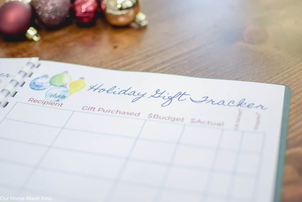 Download a free holiday gift tracker to stay organized this season!