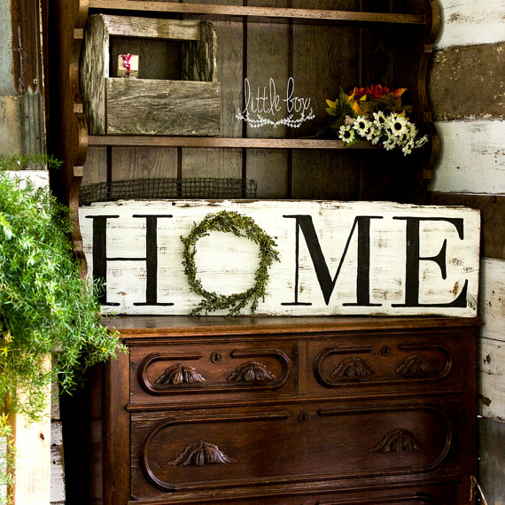 This rustic Home sign is the perfect gift for a friend that loves farmhouse style decor