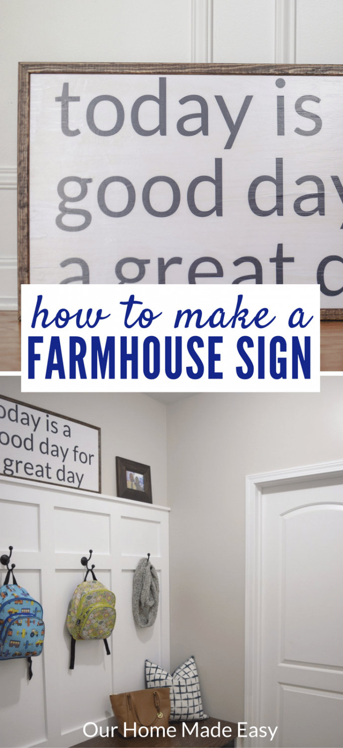 How To Make A Farmhouse Sign Our Home Made Easy