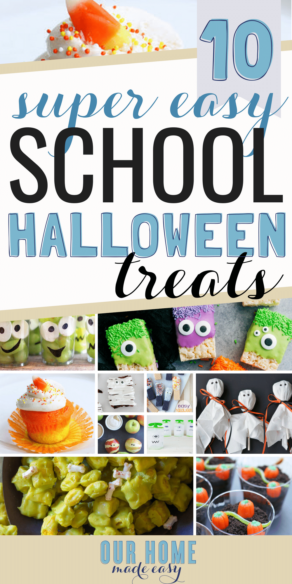 You don't need to be crafty to pull together these Halloween treats for a school party!
