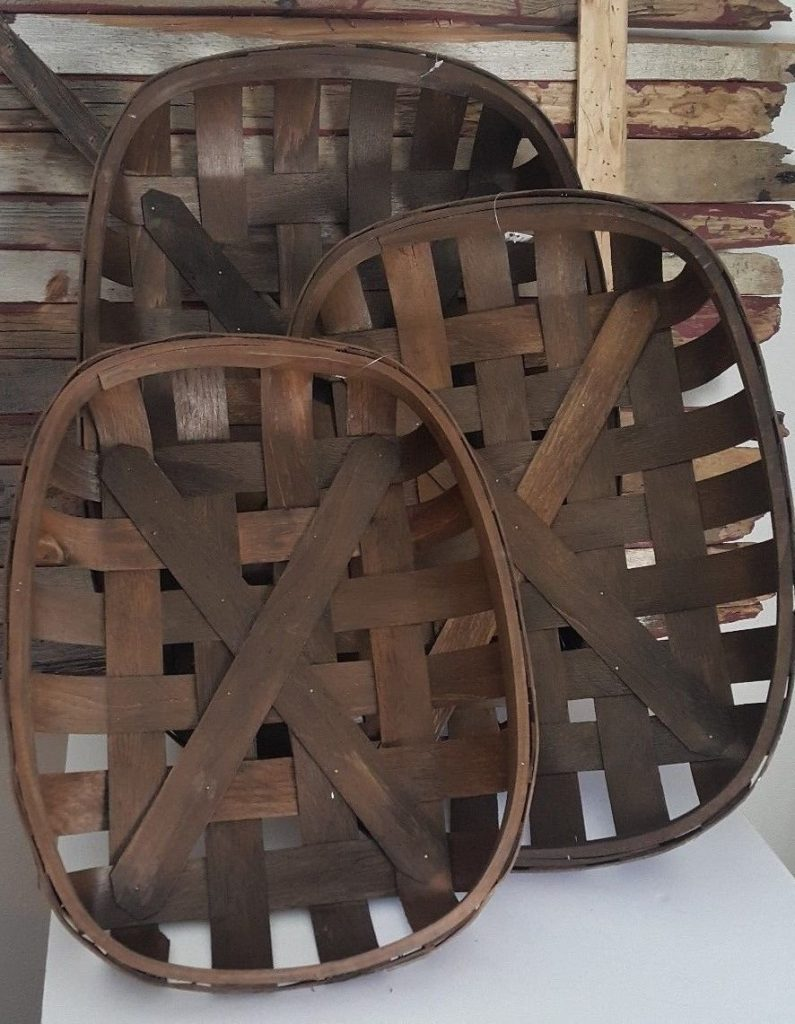 These tobacco wood baskets are perfect for the farmhouse style lover that always needs more storage