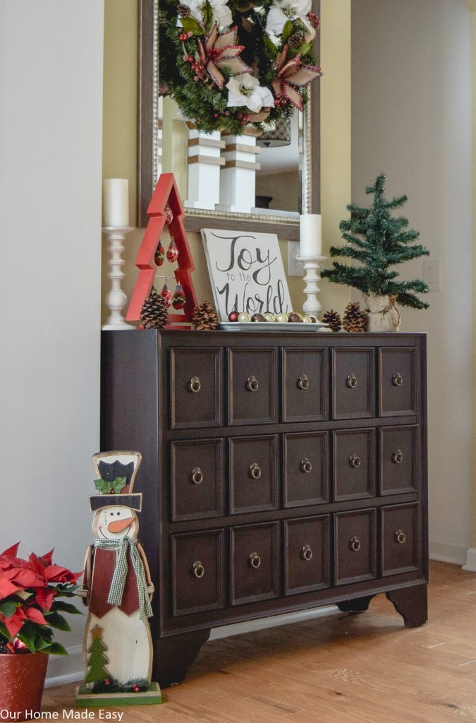 A Simple Christmas Entryway, Christmas Foyer