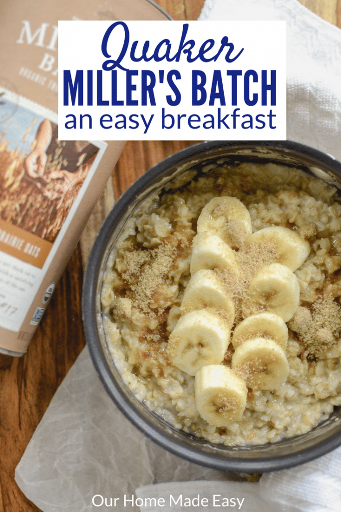 This breakfast is super easy to make and tastes so yummy, too! Check out my experience with Quaker Miller's Batch here! Hint: It's so good!