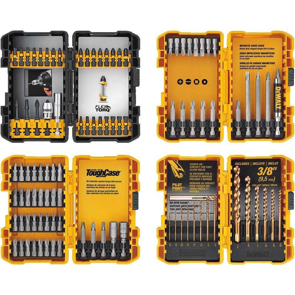 Your DIY husband will never search for the right bit again with this complete set of screwdriver and drill bits