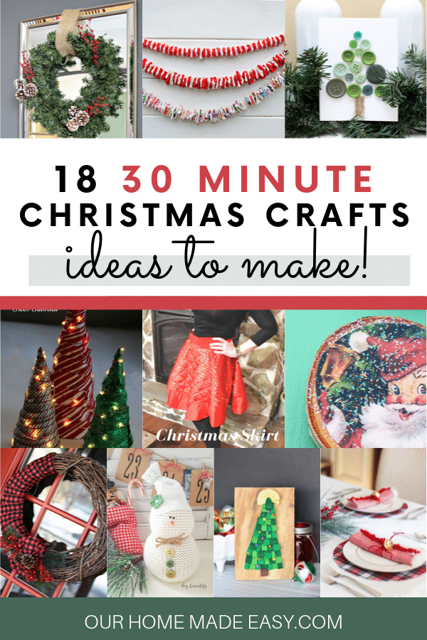These simple and fun Christmas crafts are the perfect way to decorate your house with the Christmas spirit