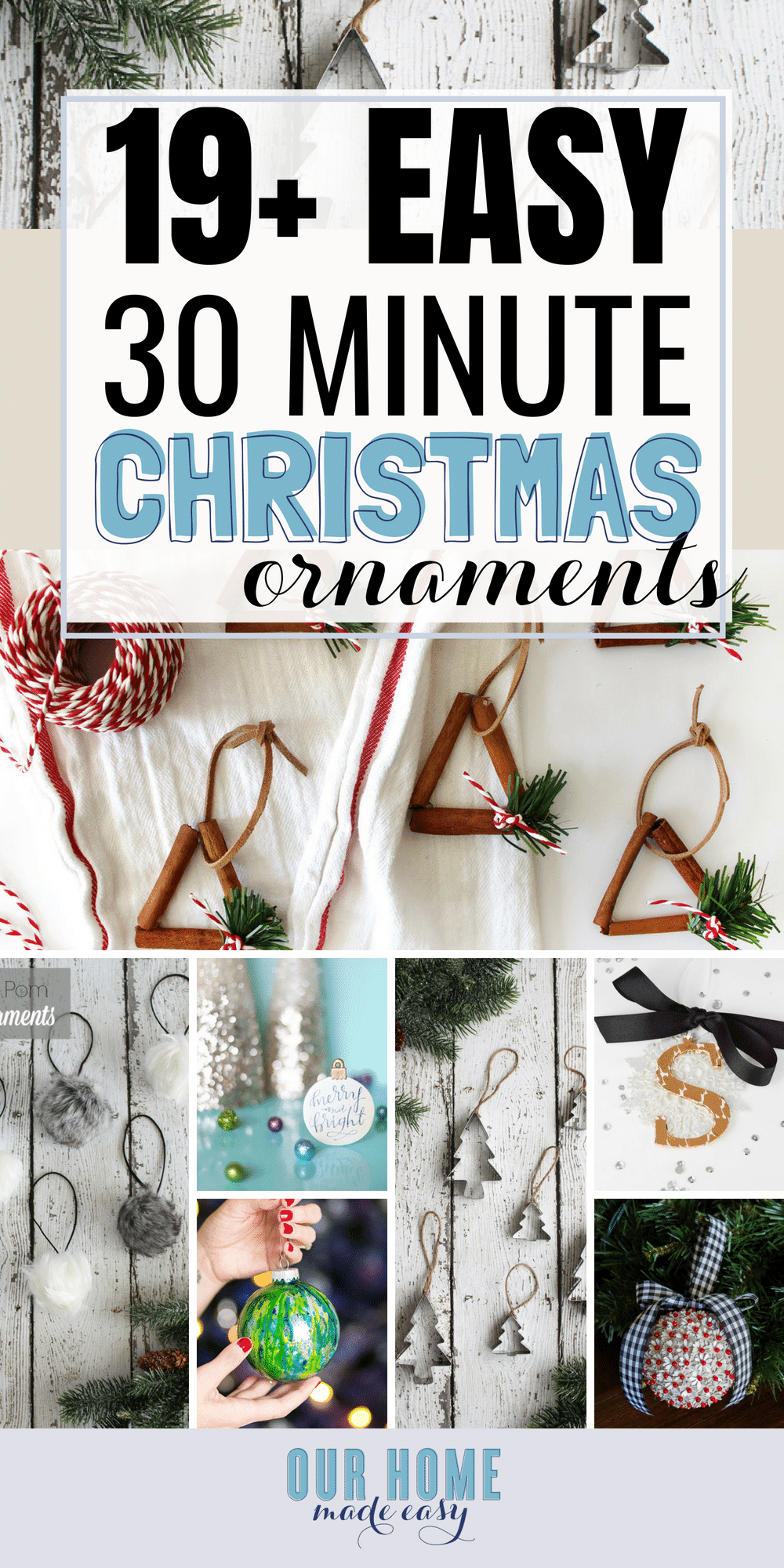 Fun DIY Christmas ornaments in 30 minutes! Make them as a gift! #christmas #ornaments #christmastree #homedecor