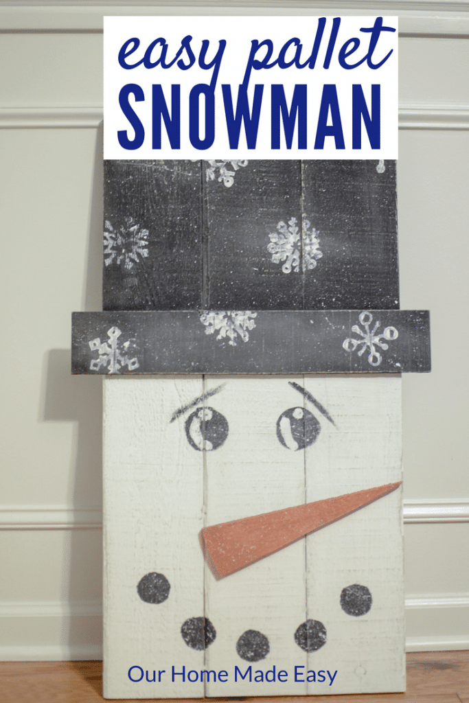 Make This Super Easy Pallet Snowman Use Some Leftover Paint And Wood To Build
