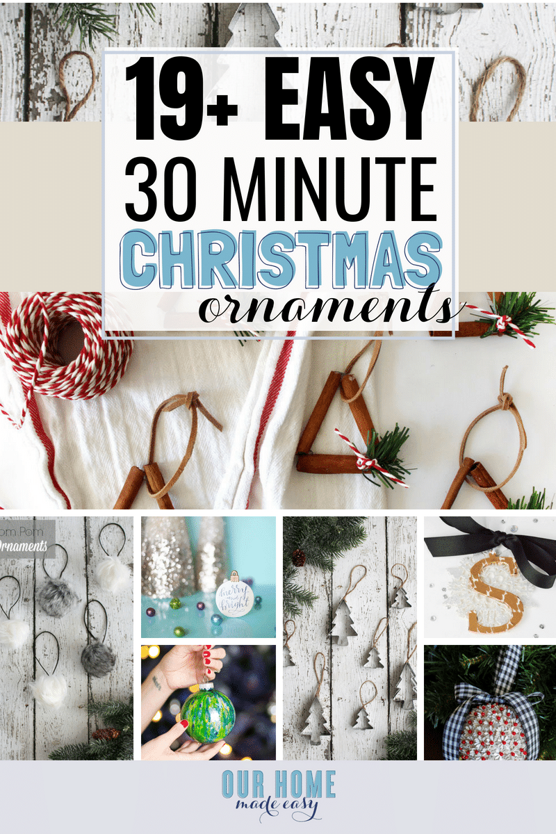 Easy DIY Christmas Ornaments #Christmas #Home#Christmastree