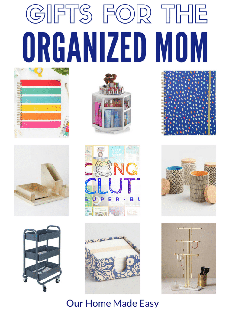 Gifts for organized moms, busy mom gifts, organized gifts for her
