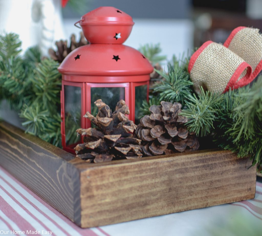 This simple wood serving tray is an easy DIY that can be used for decor or serving at a party