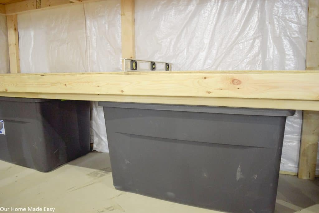 These easy basement storage shelves gave us so much more room to organize our basement