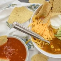 Easy 5 Ingredient Slow Cooker Tortilla Soup