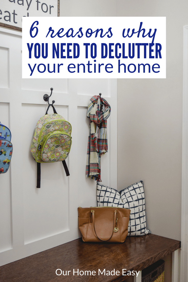 Decluttering your home will make your life easier! Click here to read all 6 reasons and join the free Declutter Challenge!