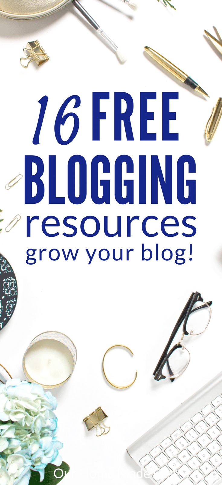 Want the best free blogging resources? I've found 16 of my favorite from successful bloggers! Click here to learn from the best-- for free!