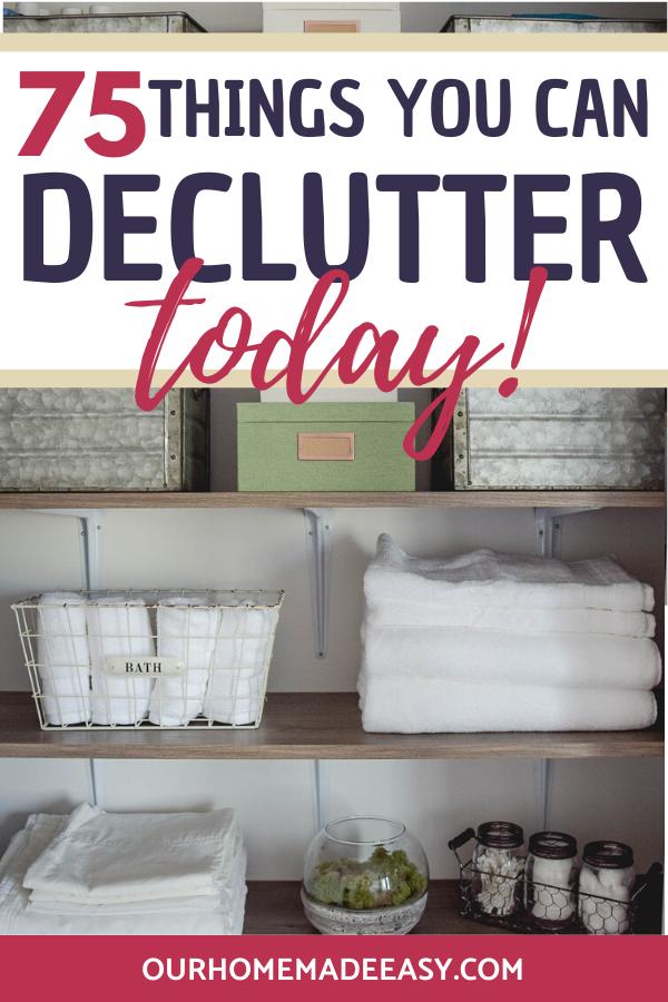 linen closet declutter organized