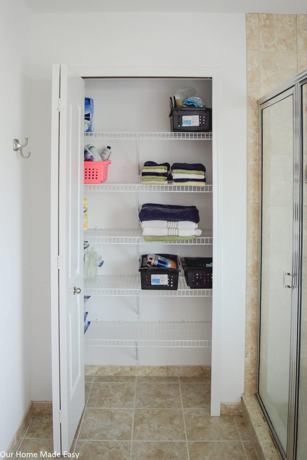 bathroom linen closet reveal our home made easy