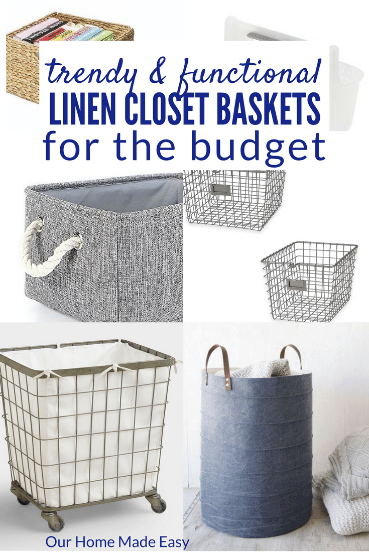 Trendy and functional ways to organize your bathroom close or linen closet on a budget
