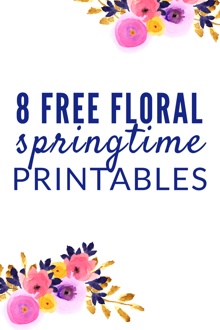 These free Spring Floral Printables will add some color and cheer to your home in the springtime