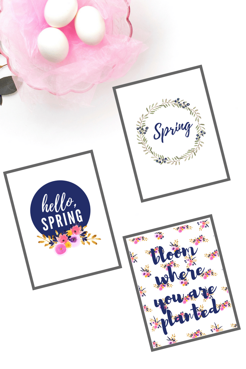 Welcome Spring to your home with these free Spring floral printables