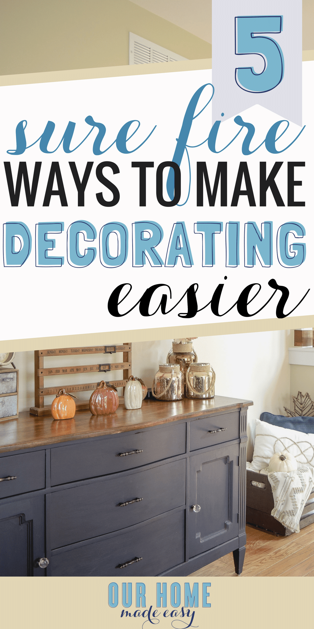 Decorating your home is pretty easy! You can DIY a beautiful home decor without breaking the budget. Here are 5 ways to decorate your home effortlessly!