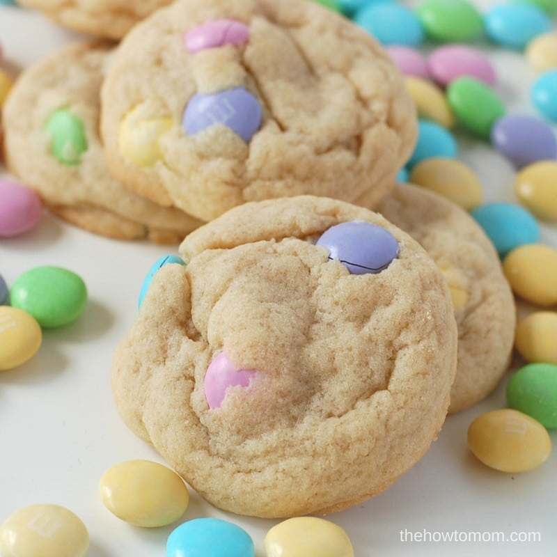 These M&M sugar cookies are perfect soft, with sweet pieces of M&Ms in every bite