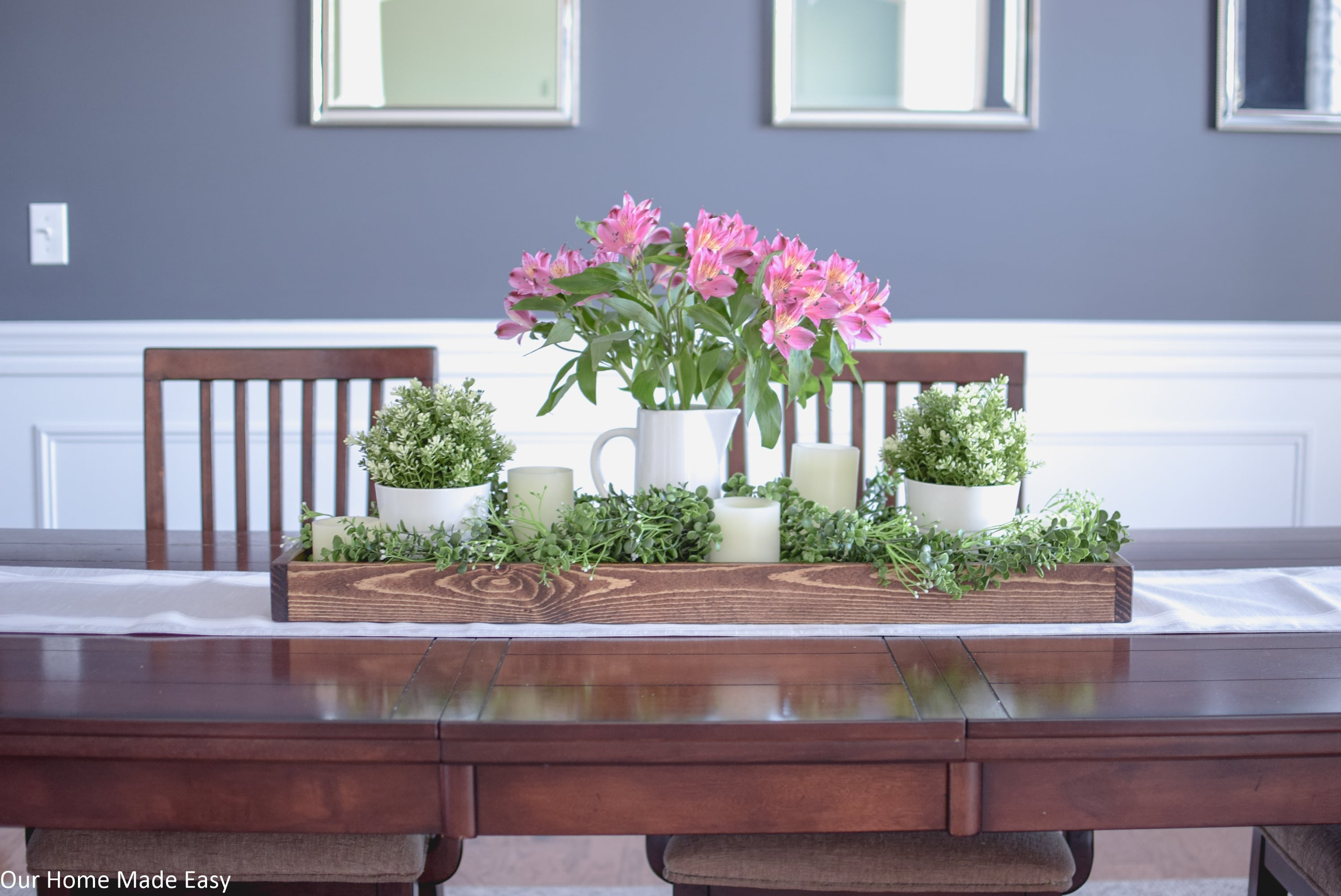 This DIY Spring centerpiece can easily be put together with materials you already have!