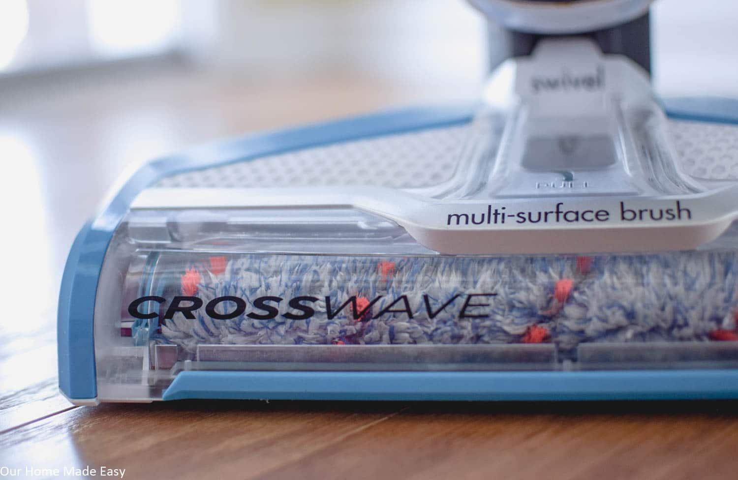 The Bissell CrossWave multi-surface brush makes switching from hardwood floors to rugs a breeze!