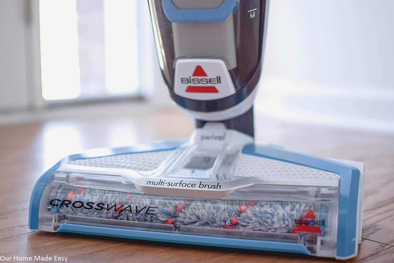 The Bissell CrossWave is a great way to clean your hardwood floors and rugs with just one appliance. it's simple to use and does the job well!