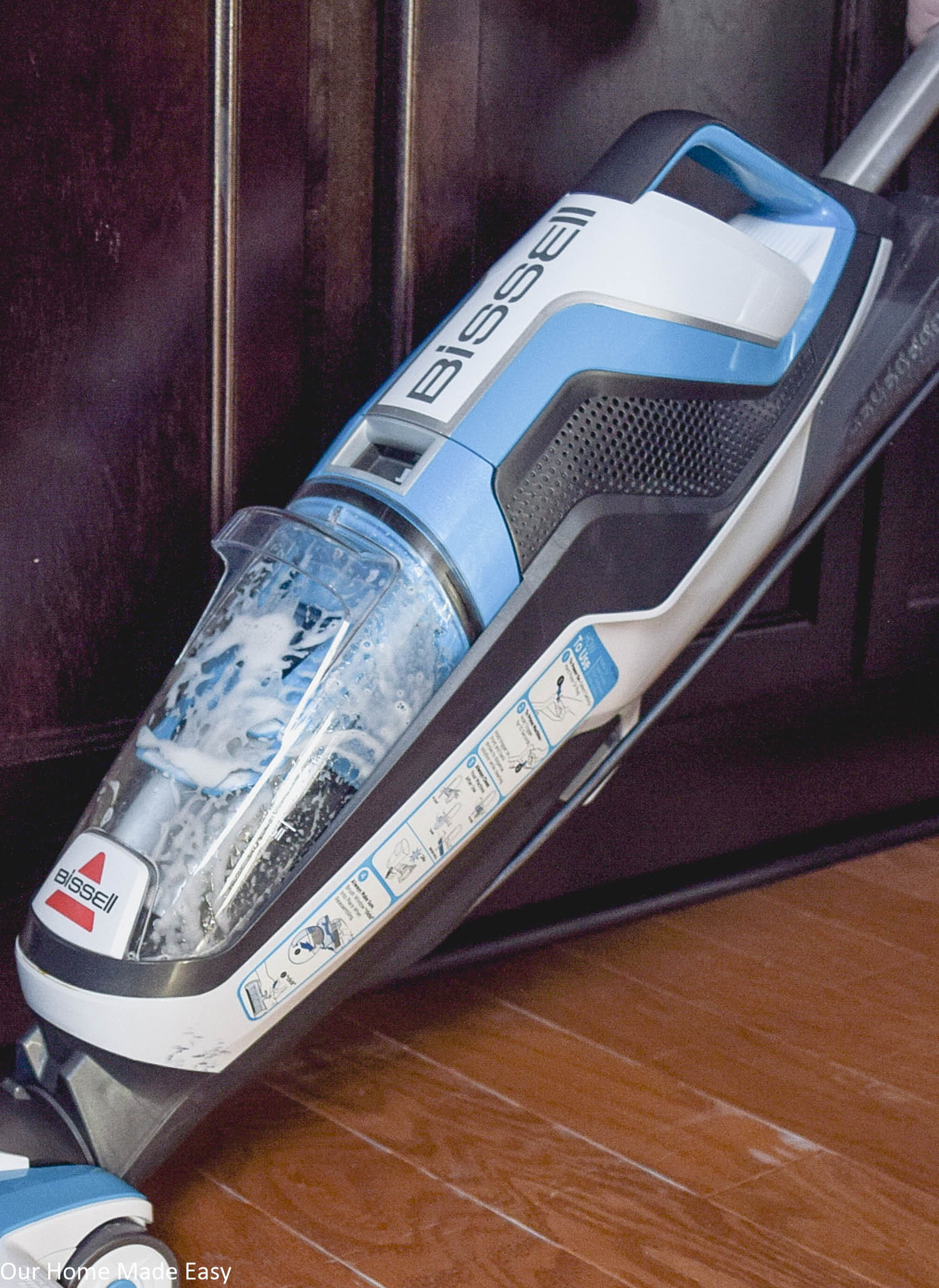 The Bissell CrossWave is the easiest way to clean your floors! You only need one machine for both carpet and hardwood or tile floors!