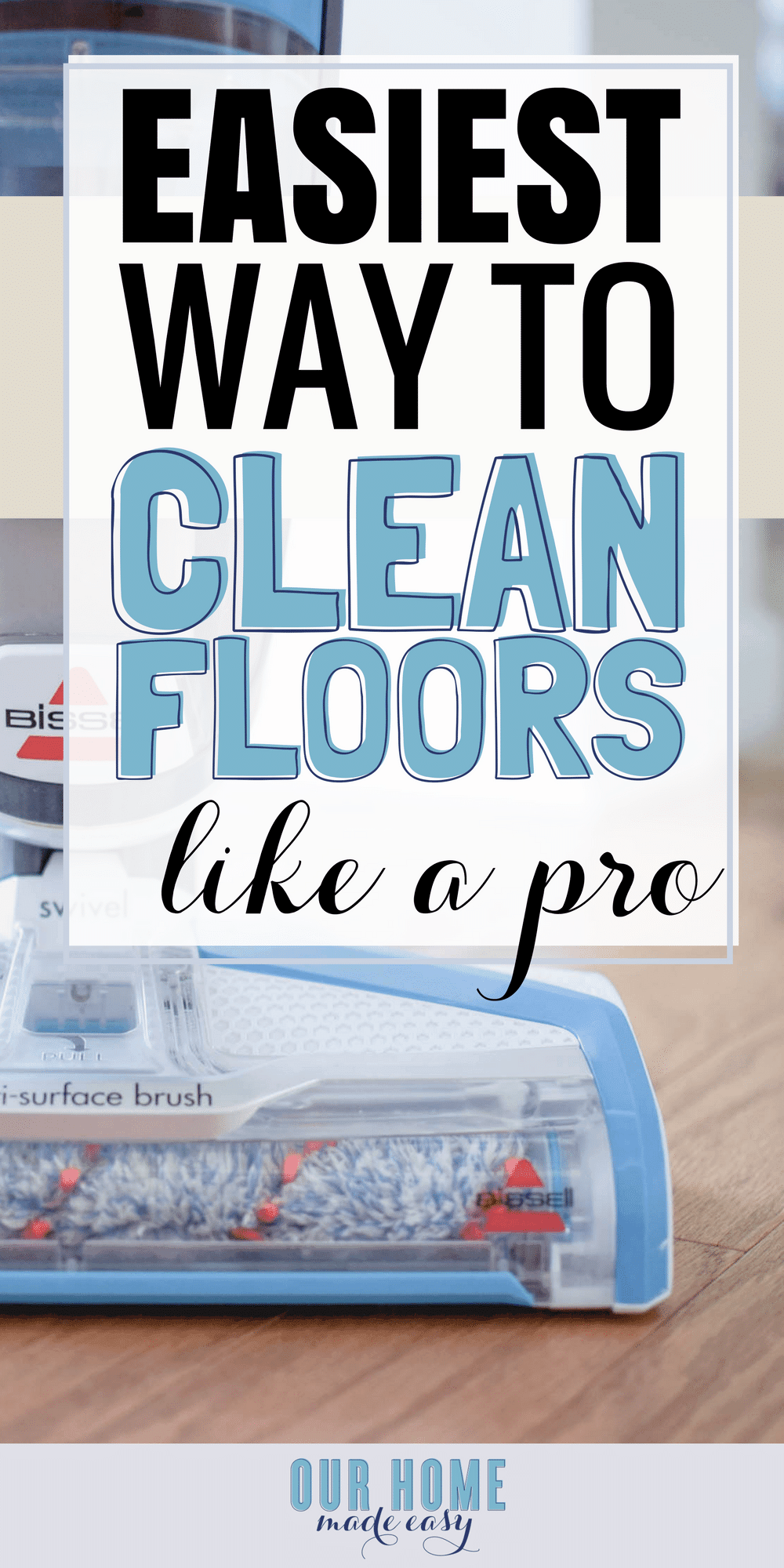 The Bissell Crosswave is the easiest way to keep all floors clean when you are too busy to mop and vacuum! Read the review for the easiest way to keep your floors clean!