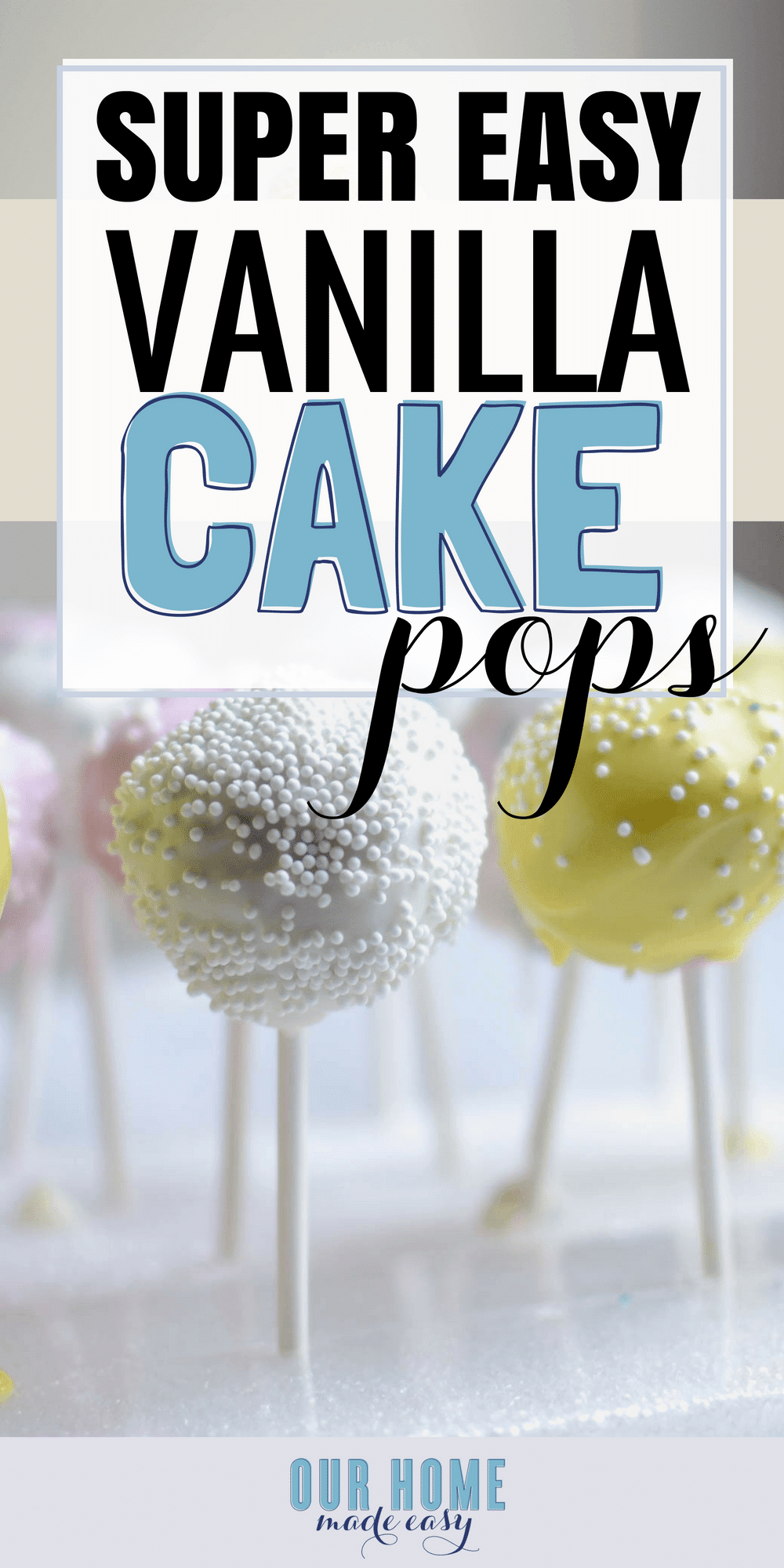 These cute cake pops are super easy to make one afternoon. The hardest part? Waiting for them to be ready! Click to see the simple recipe! #dessert #cake #easter #starbucks