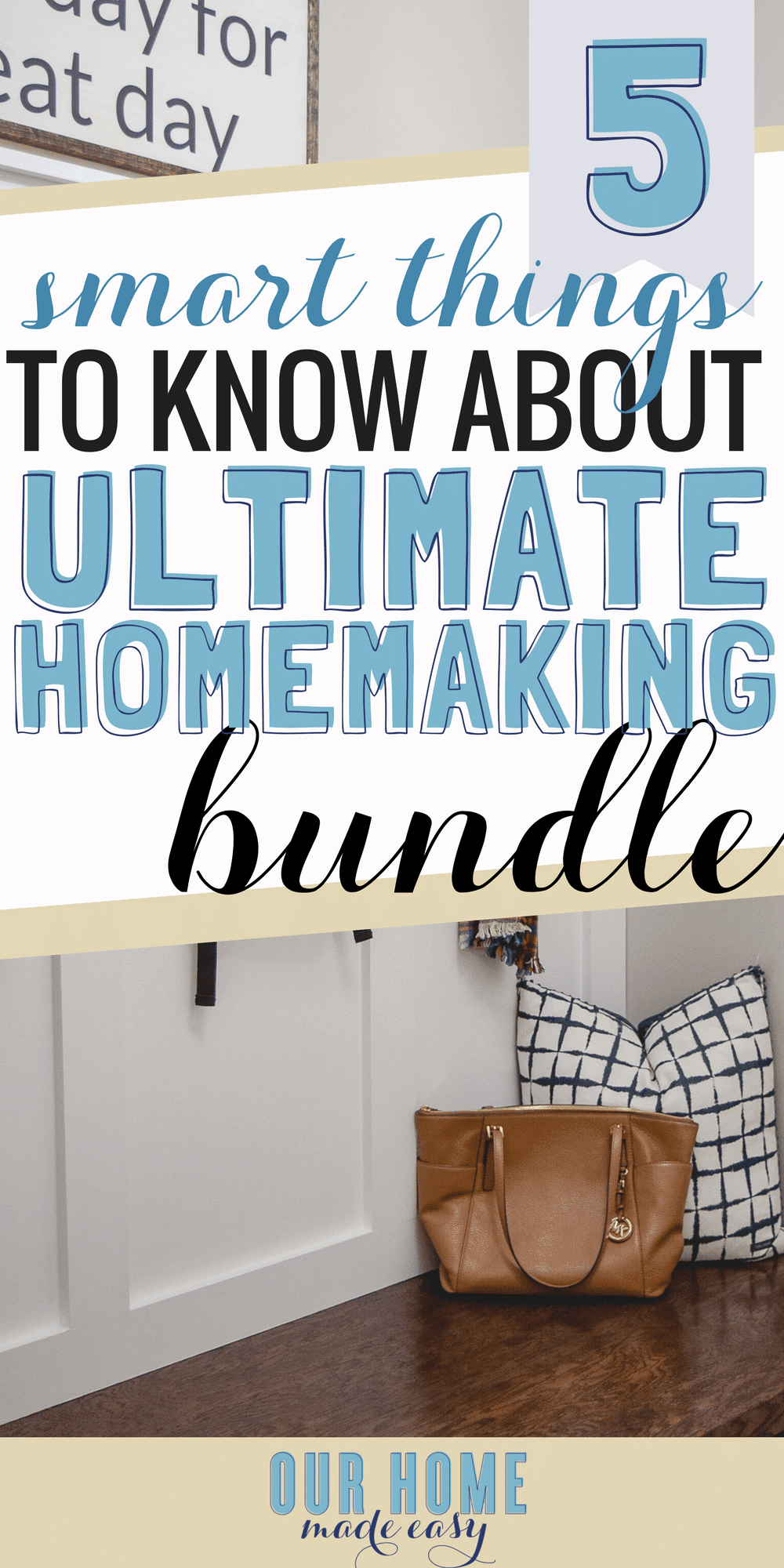I'm sharing my tips on how the Ultimate Homemaking Bundle #ultimatebundles #homemaking #organization