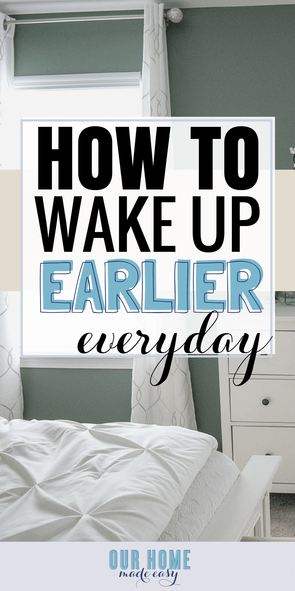 Waking up earlier every day doesn't have to be a struggle! Find your motivation and use one of the tips above to make every day better with an early start!