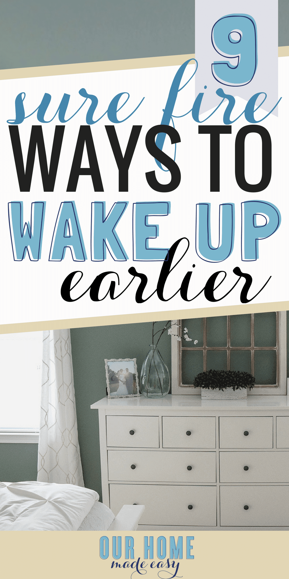 Waking up earlier every day doesn't have to be a struggle! Find your motivation and use one of the tips above to make every day better with an early start! #mornings #wakingup #workingmom #howtowakeup #alarmclock #mornings