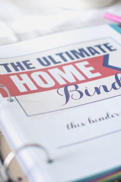 Introducing The Ultimate Home Binder!