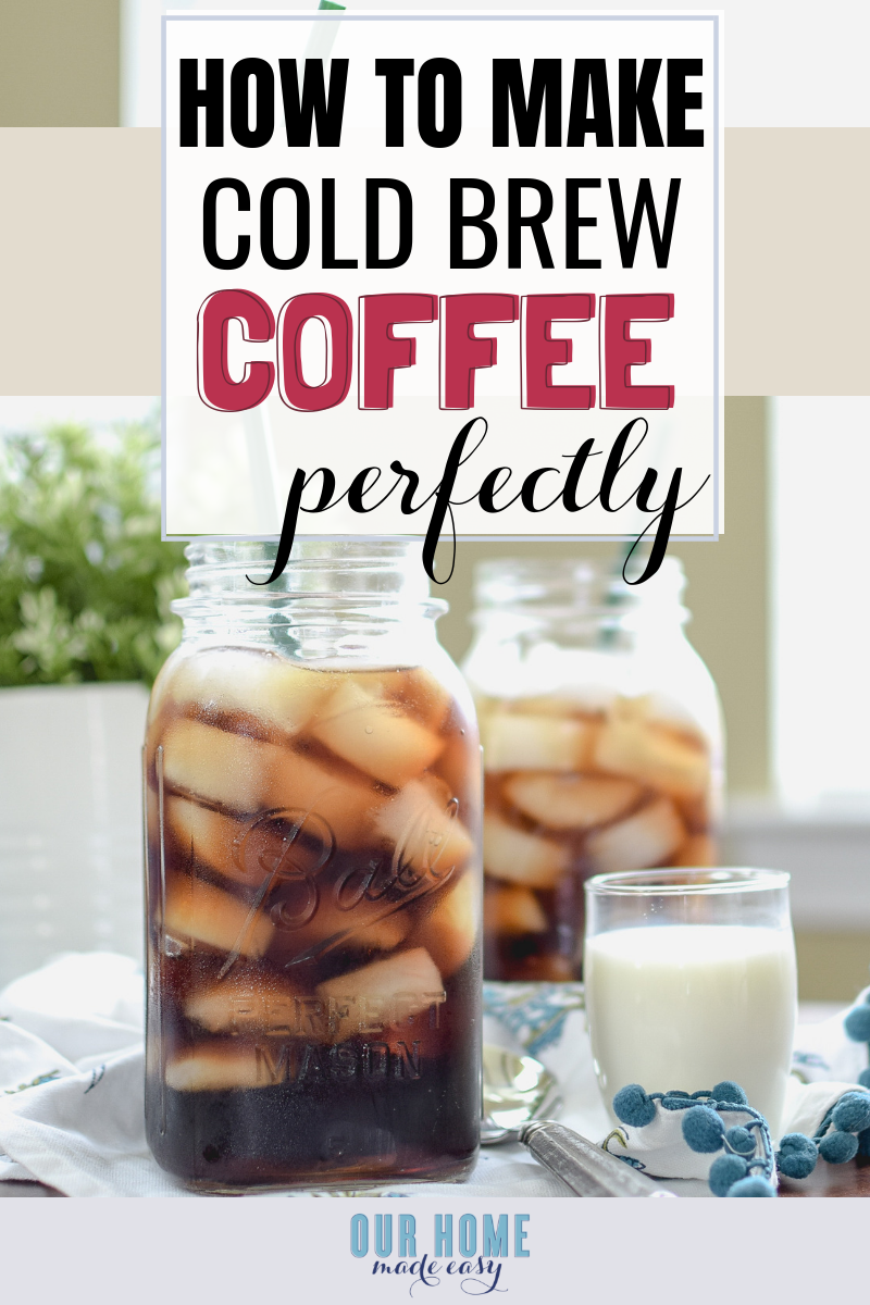 cold brew coffee in mason jar