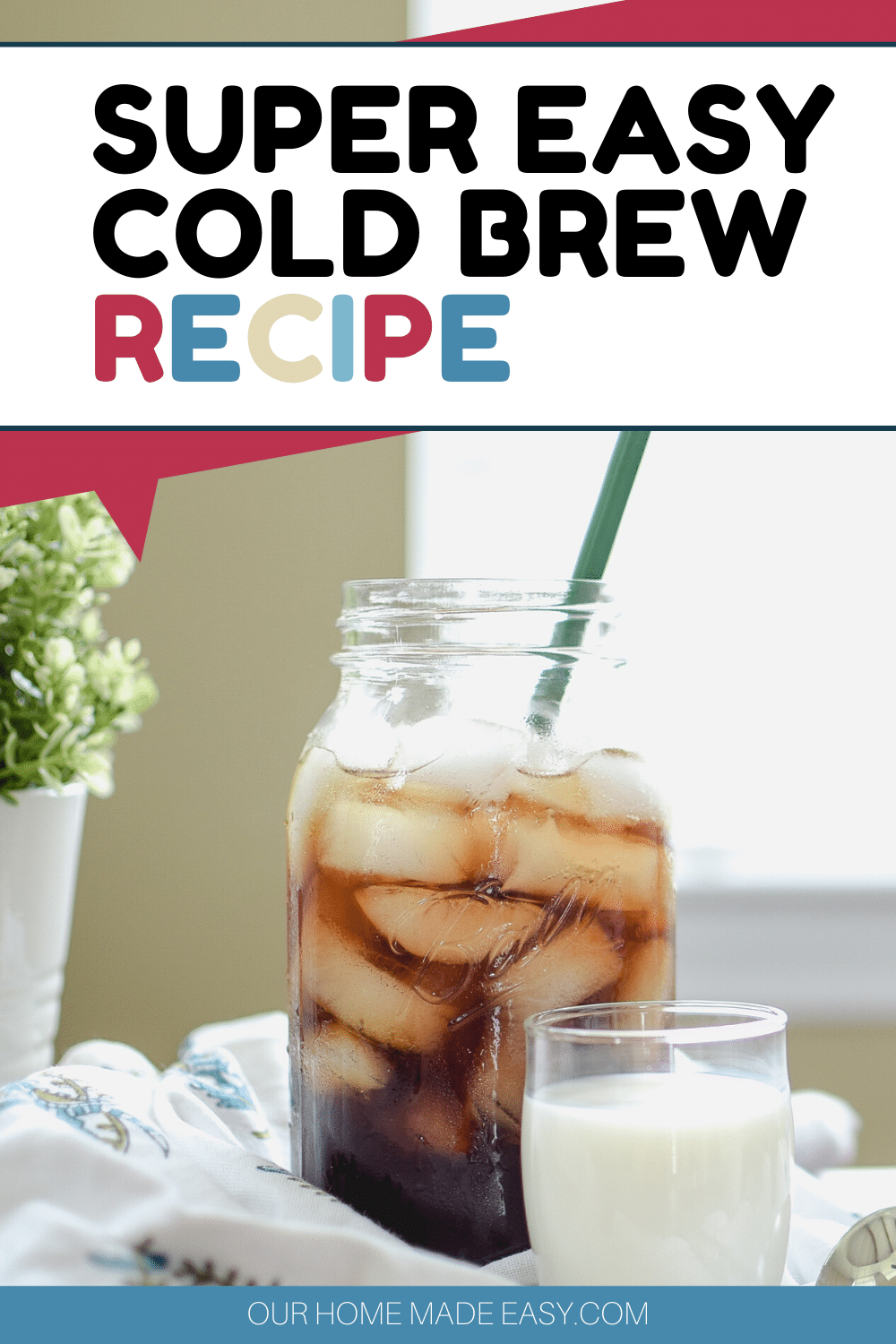 Here's how to make cold brew coffee at home with a simple overnight recipe.