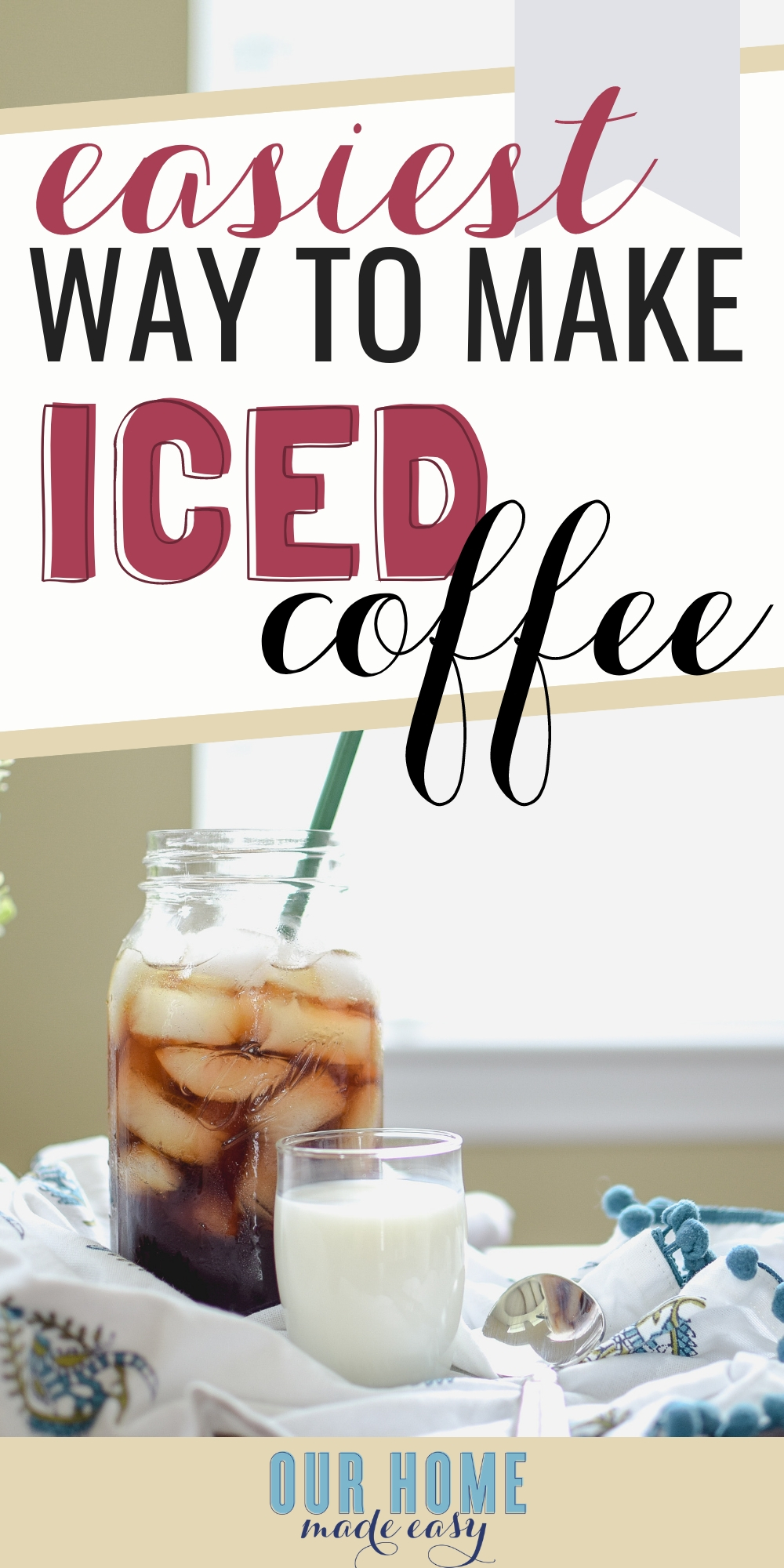 The easiest way to make iced coffee at home! Here's a french press cold brew coffee recipe