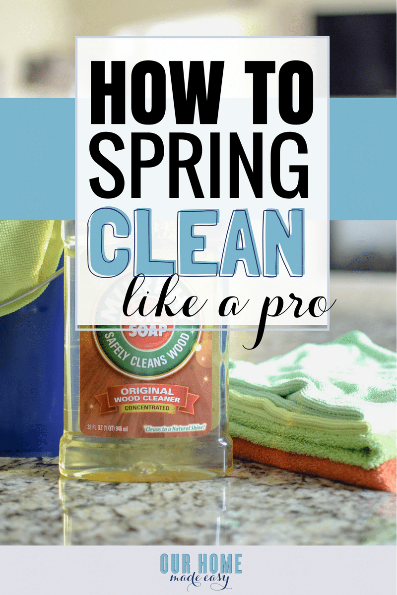 Make Spring cleaning, easy by tackling a few main items! Grab your free Spring cleaning checklist to make sure you don't miss a thing this year!