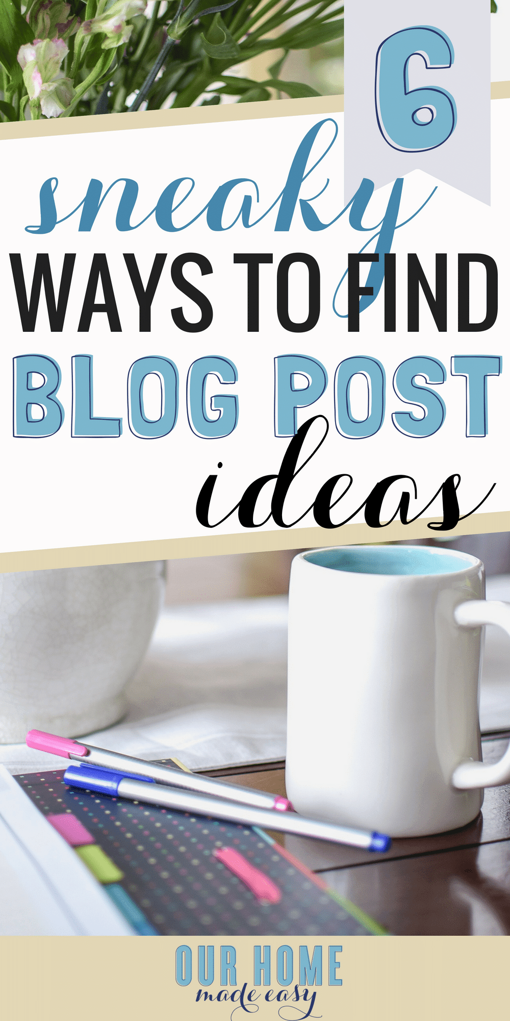 Wondering how us bloggers come up with blog post ideas? I'm sharing how you can brainstorm posts even when you can't think of something to write about! #blogging #blog #content #writing